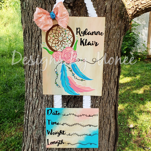 Boho Dream Catcher Hospital Door Hanger