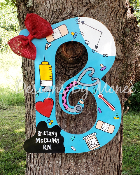 Nurse Letter Door Hanger