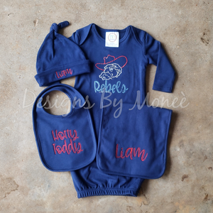 Customized Collegiate or Professional Team Baby Bundle