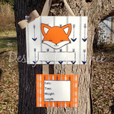 Fox and Arrow Hospital Door Hanger