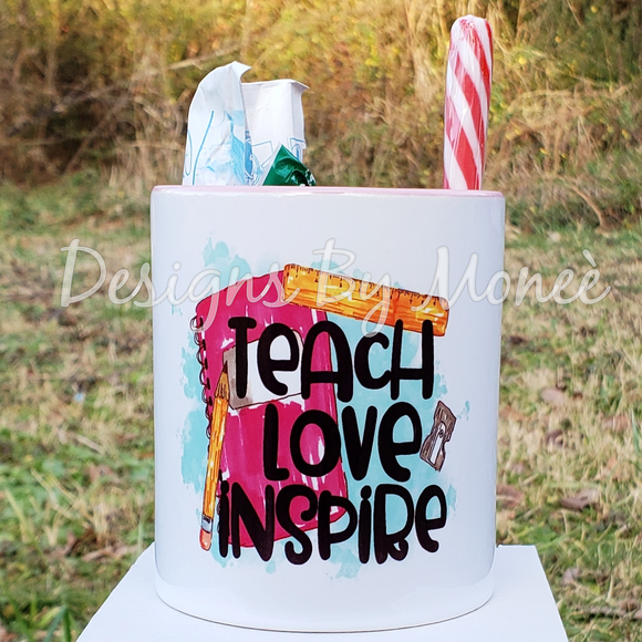 Custom Teach Love Inspire Teacher's Mug