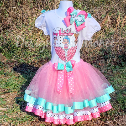 LOL Surprise Dolls Ribbon Trimmed Tutu Birthday Outfit