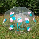 Monogram Personalized Clear Umbrella Children Adult Boy Girl