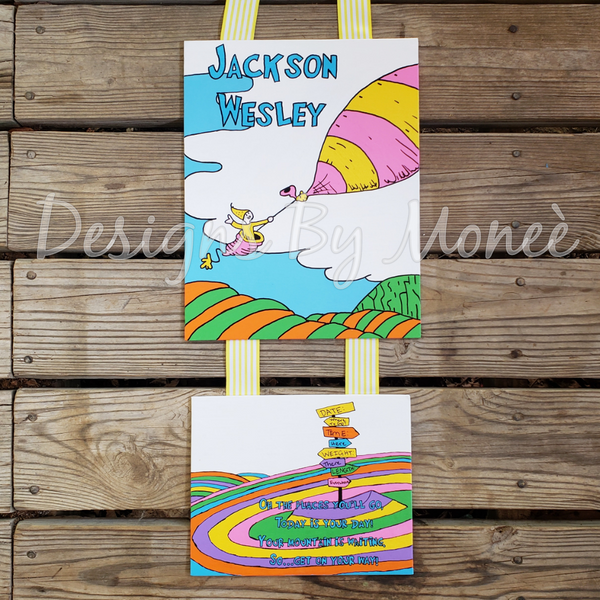 Dr. Suess Oh The Places You'll Go Hospital Door Hanger