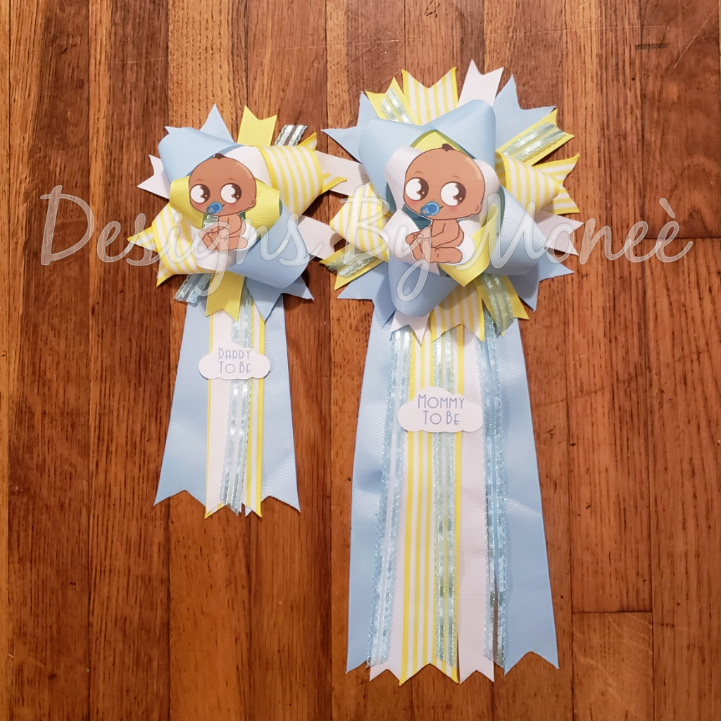 Heaven Sent Baby Shower Corsage