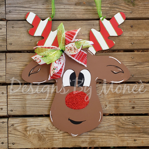 Rudolph the Red Nose Reindeer Door Hanger