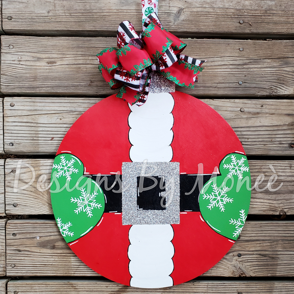 Santa Belly Chsitmas Ornament Door Hanger