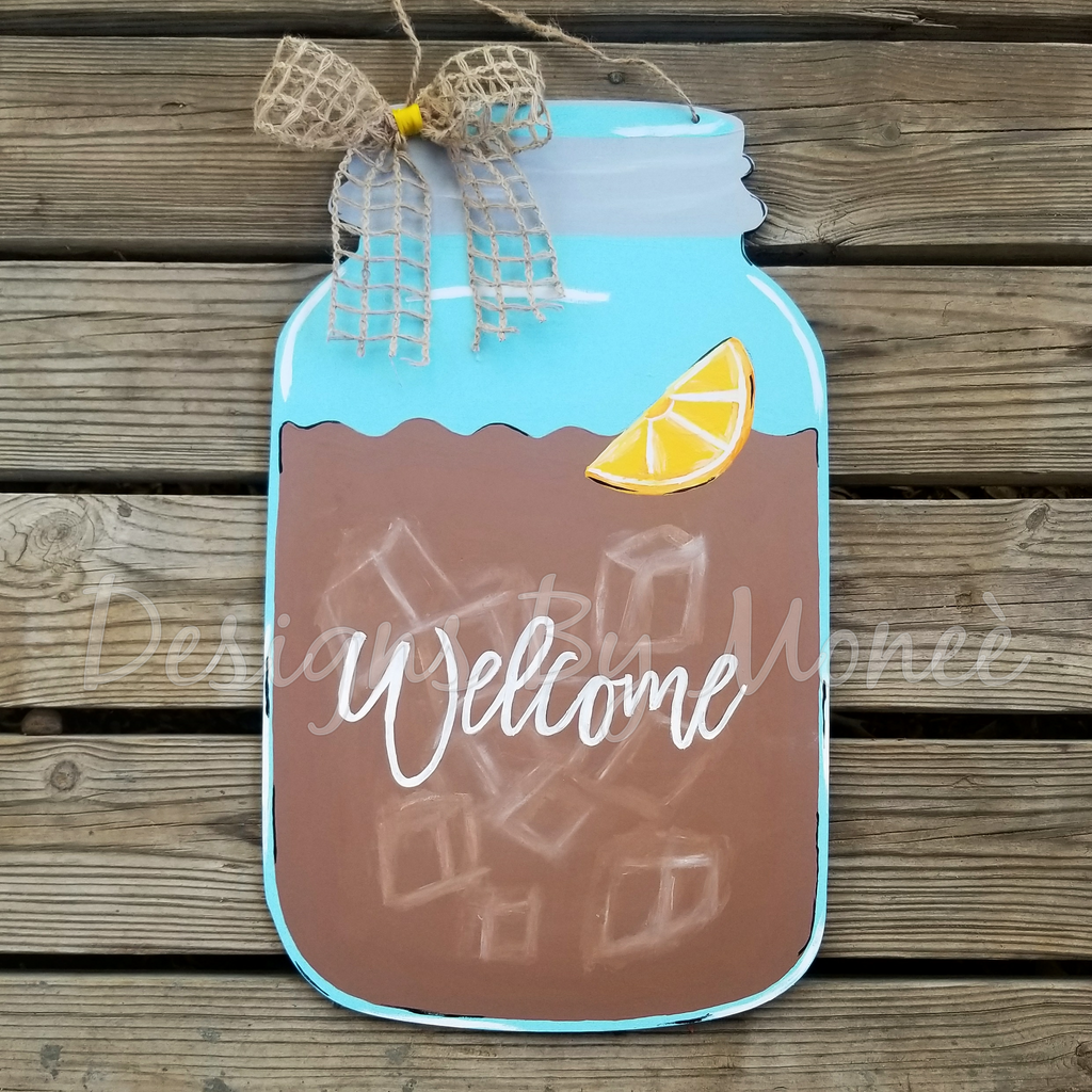 Mason Jar Summer Door Hanger
