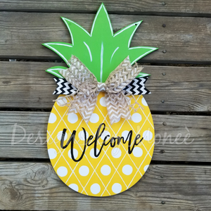 Welcome Pineapple Summer Door Hanger