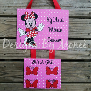 Minnie Mouse Pink Hospital Door Hanger