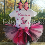 Minnie Mouse Theme Birthday Shirt Matching Tutu and Hairbow