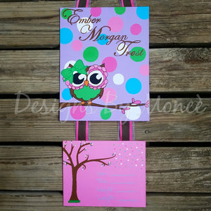 Owl and Polka dots Hospital Door Hanger