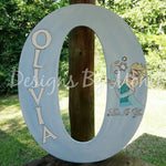 Frozen Anna and Elsa Letter Door Hanger Wall Decor