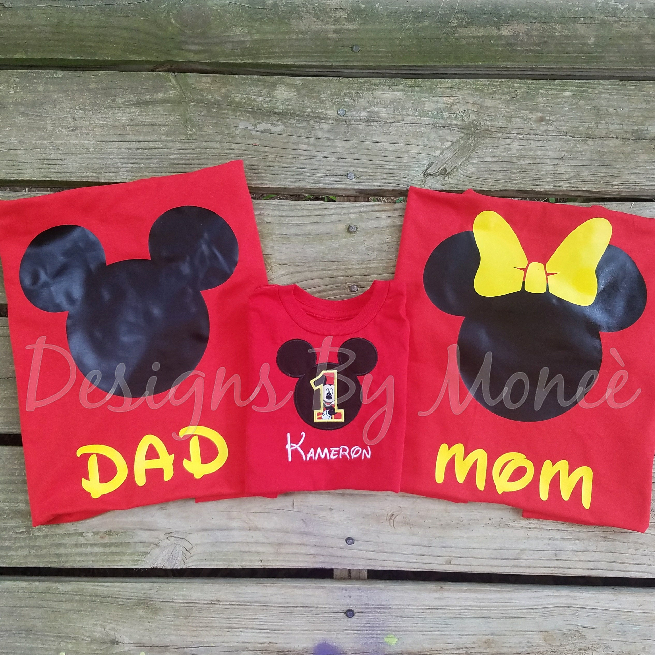 cd88420a5 Personalized Mickey Mouse and Minnie Mouse Family Birthday Shirts ...