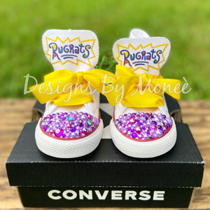 Rugrats Inspired Bling Rhinestone Converse