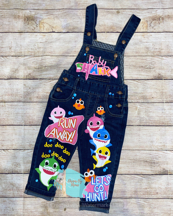 Custom Handpainted Character Children's Overalls