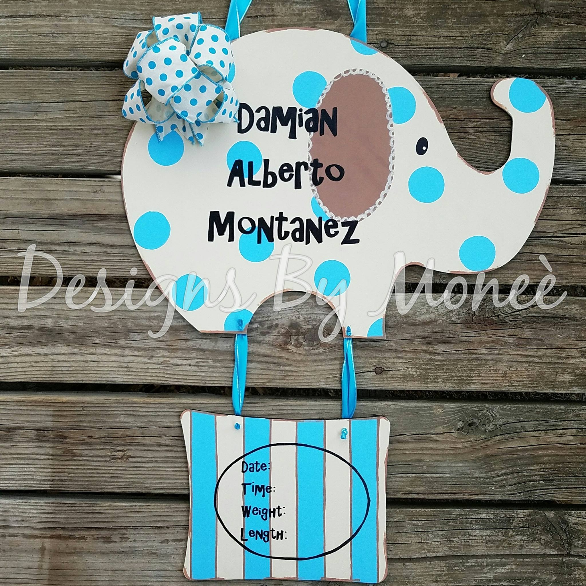 Elephant Shape Hospital Door Hanger