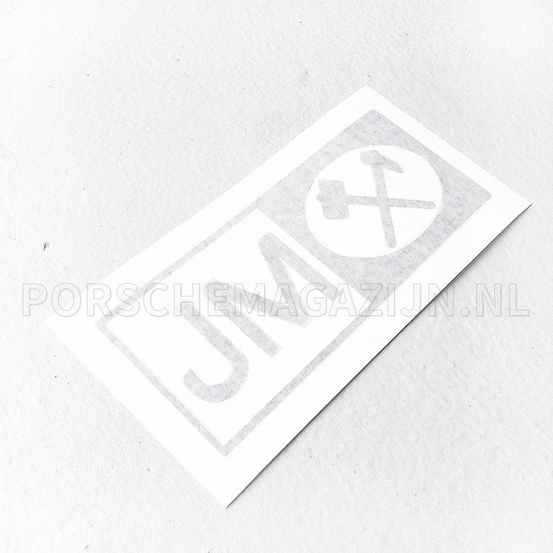 Johnson Matthey JM logo sticker voor Porsche