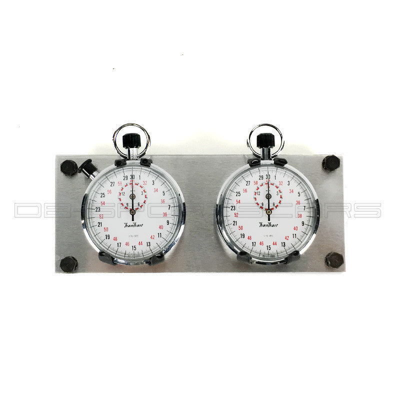 Vintage Classic Chronograph Stopwatch Hanhart - dual dash trackmaster set