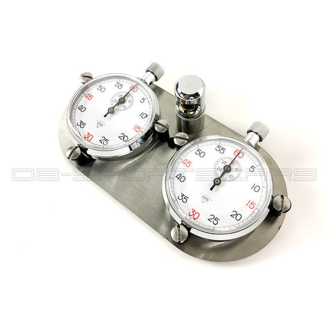 Vintage Chronograph Stopwatches Set - classic dual dash trackmaster