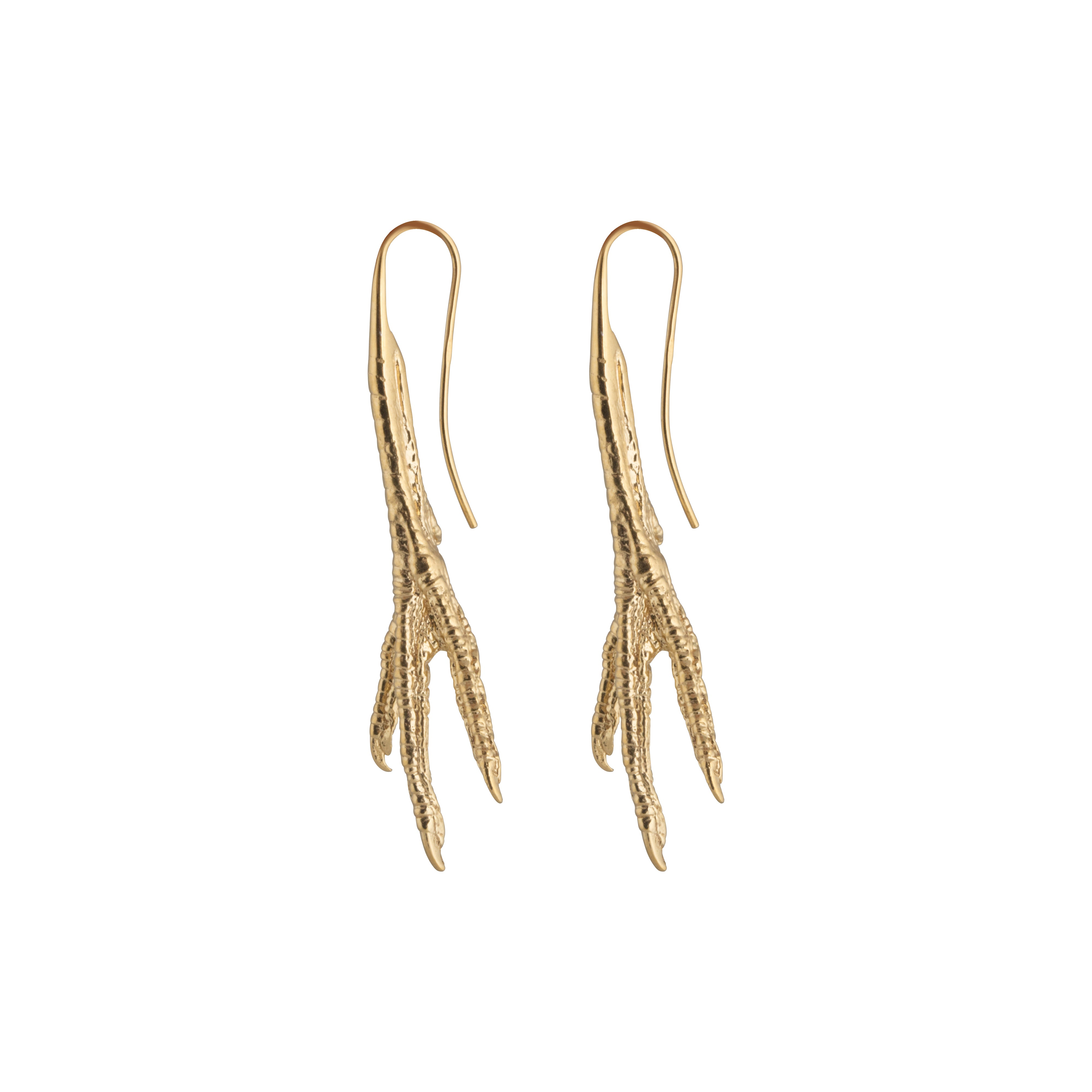 Chicken Feet Earrings gold plated