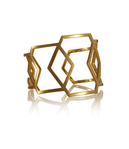 Cell Cuff Light gold plated