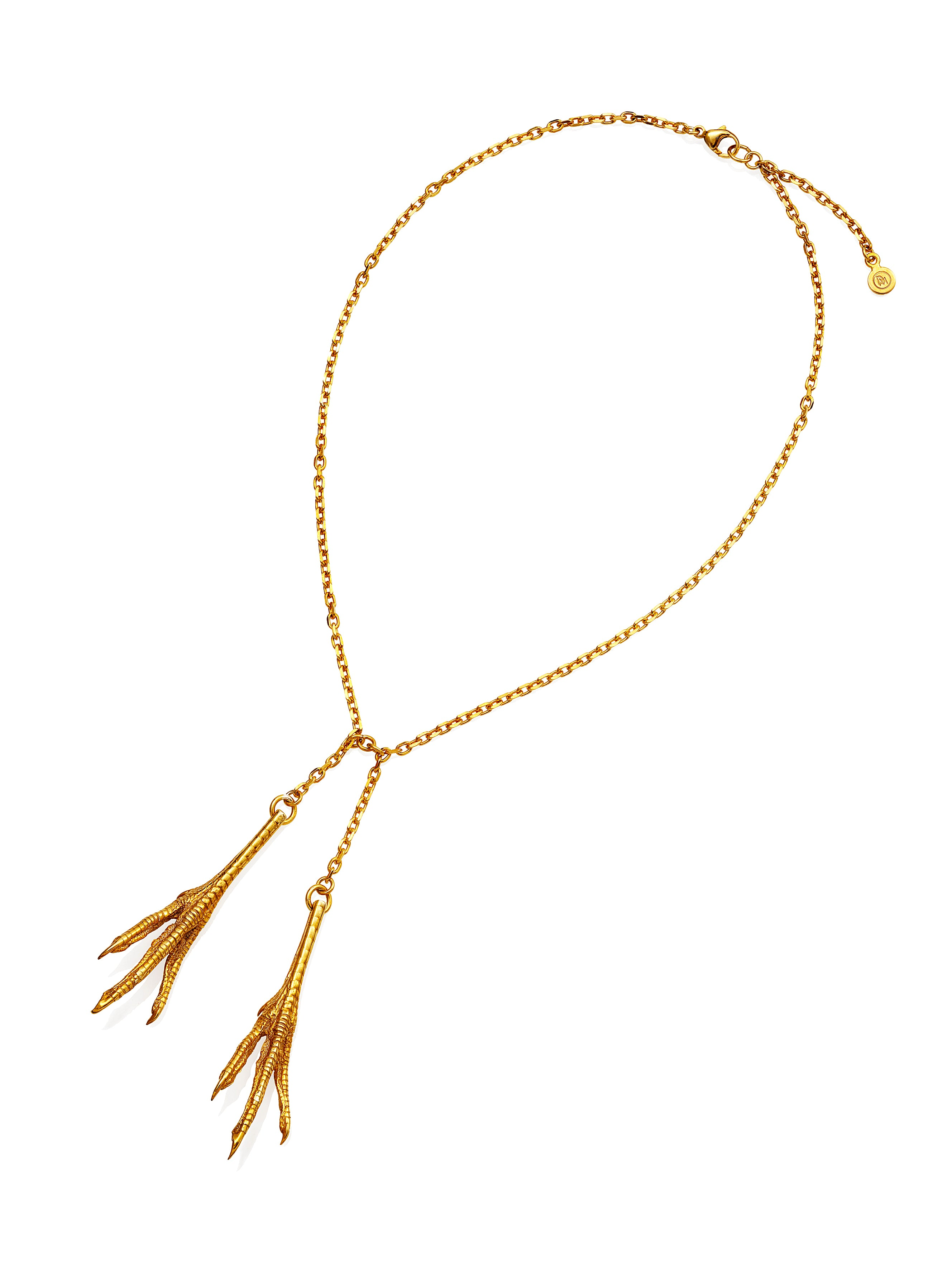 Chicken Feet Necklace Double gold plated