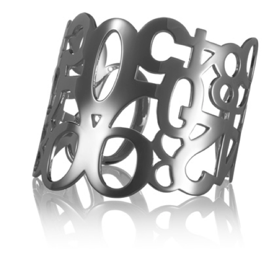 Numbers Cuff silver