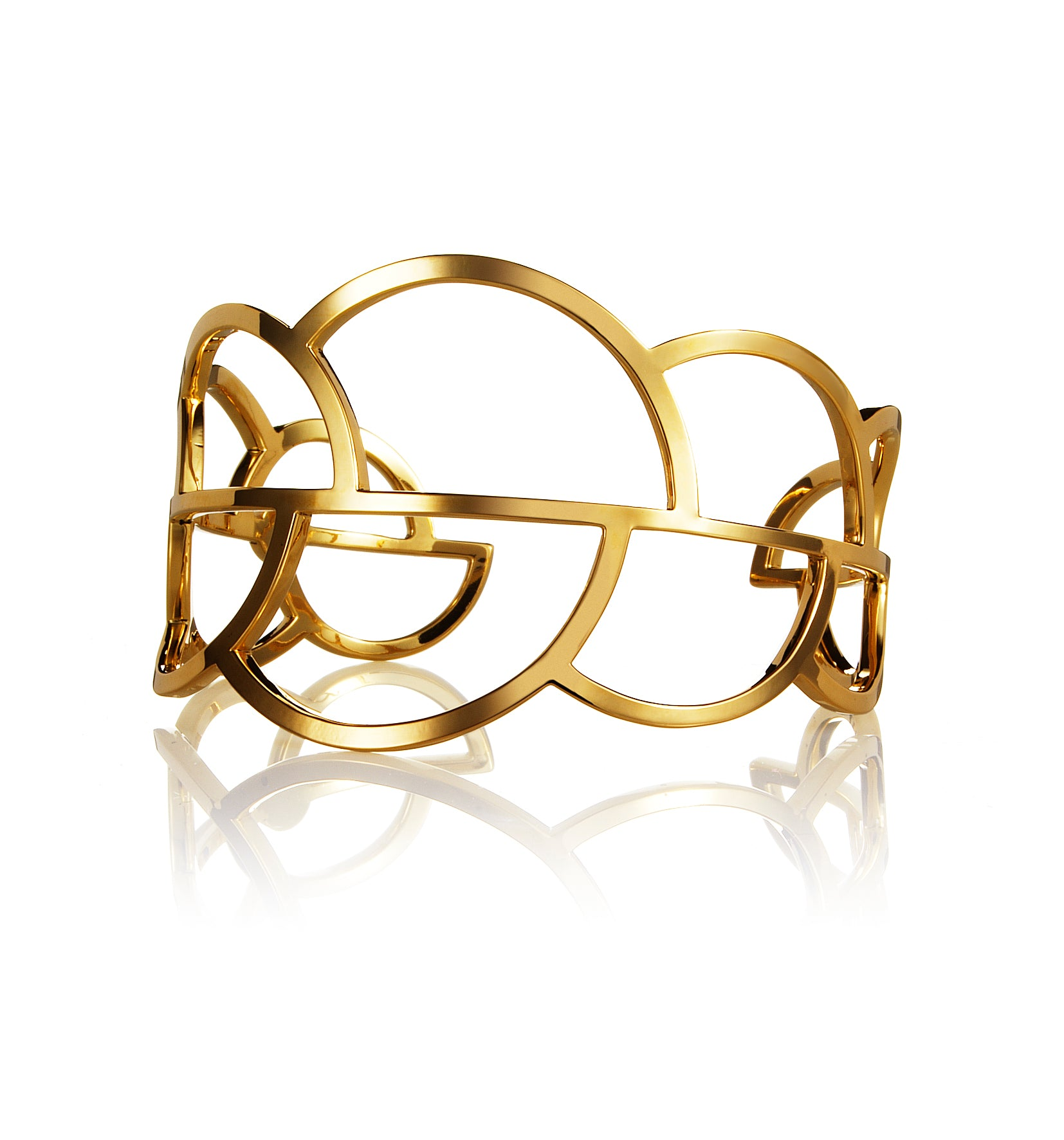 Drift cuff gold plated