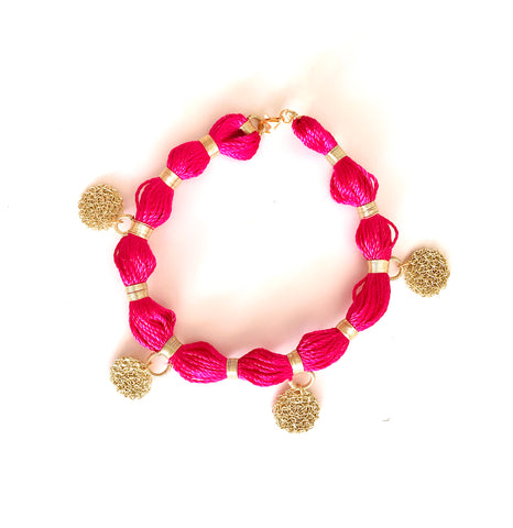 Magenta Anklet, Venice Collection