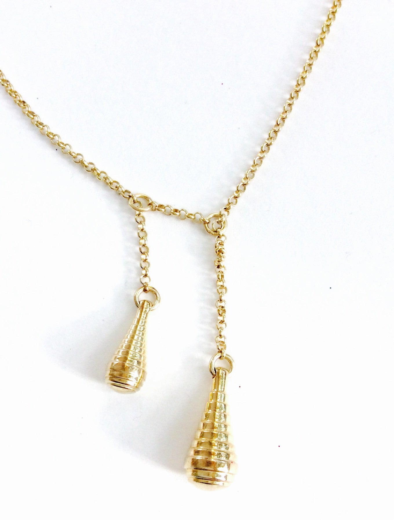 Drop Necklace Double 45cm