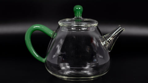 Pear glass teapot