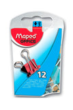 MAPED BINDER CLIPS 3/4 12/1