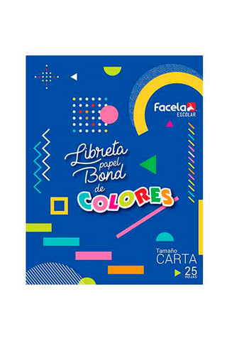 FACELA LIBRETA BOND COLOR 25/1