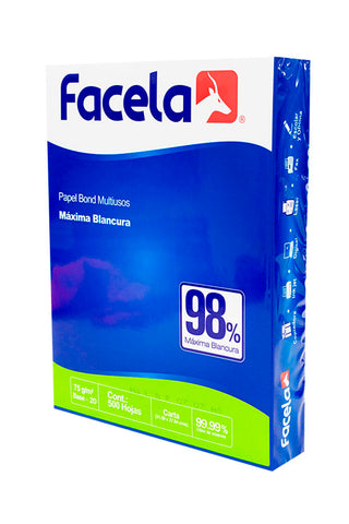 FACELA PAPEL BOND 500/1