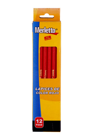 MERLETTO LAPICES COLOR ROJO 12/1
