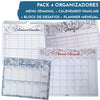 Pack 4 Organizadores: Menu + Planner + Calendario Familiar + Desafios