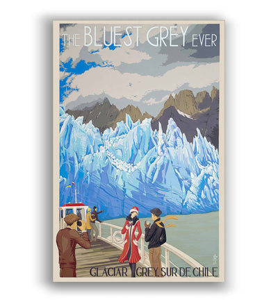 The Bluest Grey Ever / Glaciar Grey - Lámina