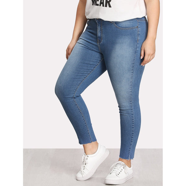 Faded Wash Skinny Jeans