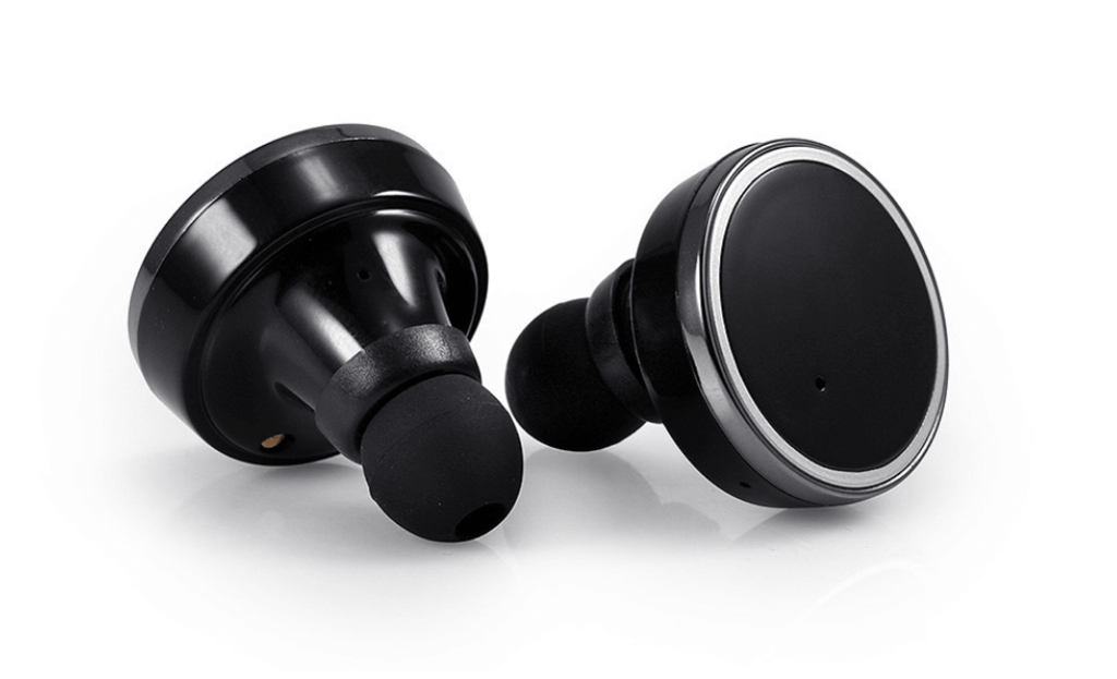 Solid Black Pods - Pair