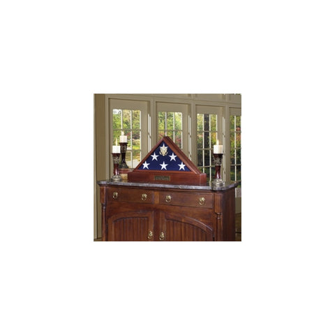 Burial Display case for flag - 3ft x 5ft American Flag.