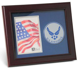 Flag Connections Aim High Air Force Medallion 4 by 6 inch Portrait Picture Frame.
