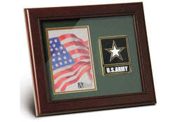Flag Connections Go Army Medallion Portrait Picture Frame, 4 by 6-Inch