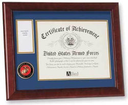 Flags Connections U.S. Marine Corps Medal and Award Frame with Medallion -13 x 16.