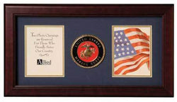Flags Connections United States Marine Corps Dual Picture Frame