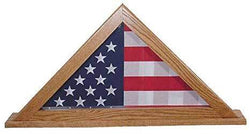American Flag Display Case for Burial Flag, Solid Wood Flag Display Case Made in America