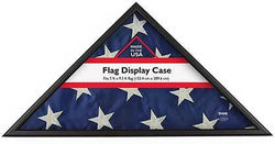 Design Ovation Memorial Flag Case, Black Wood, Made in USA, Holds 5'Hx9.5'W Folded Flag