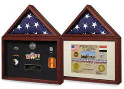 Flags Connections Capitol Flag Presentation Case with Display Shadow Box