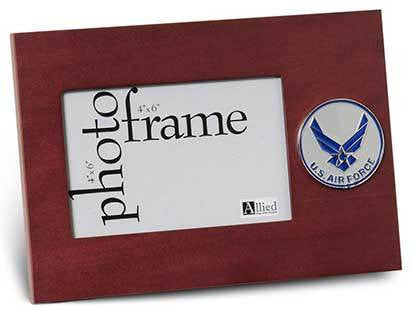 Flags Connections Aim High Air Force Medallion Desktop Picture Frame, 4 by 6-Inch