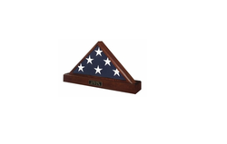 Military Flag case and Pedestal Urn